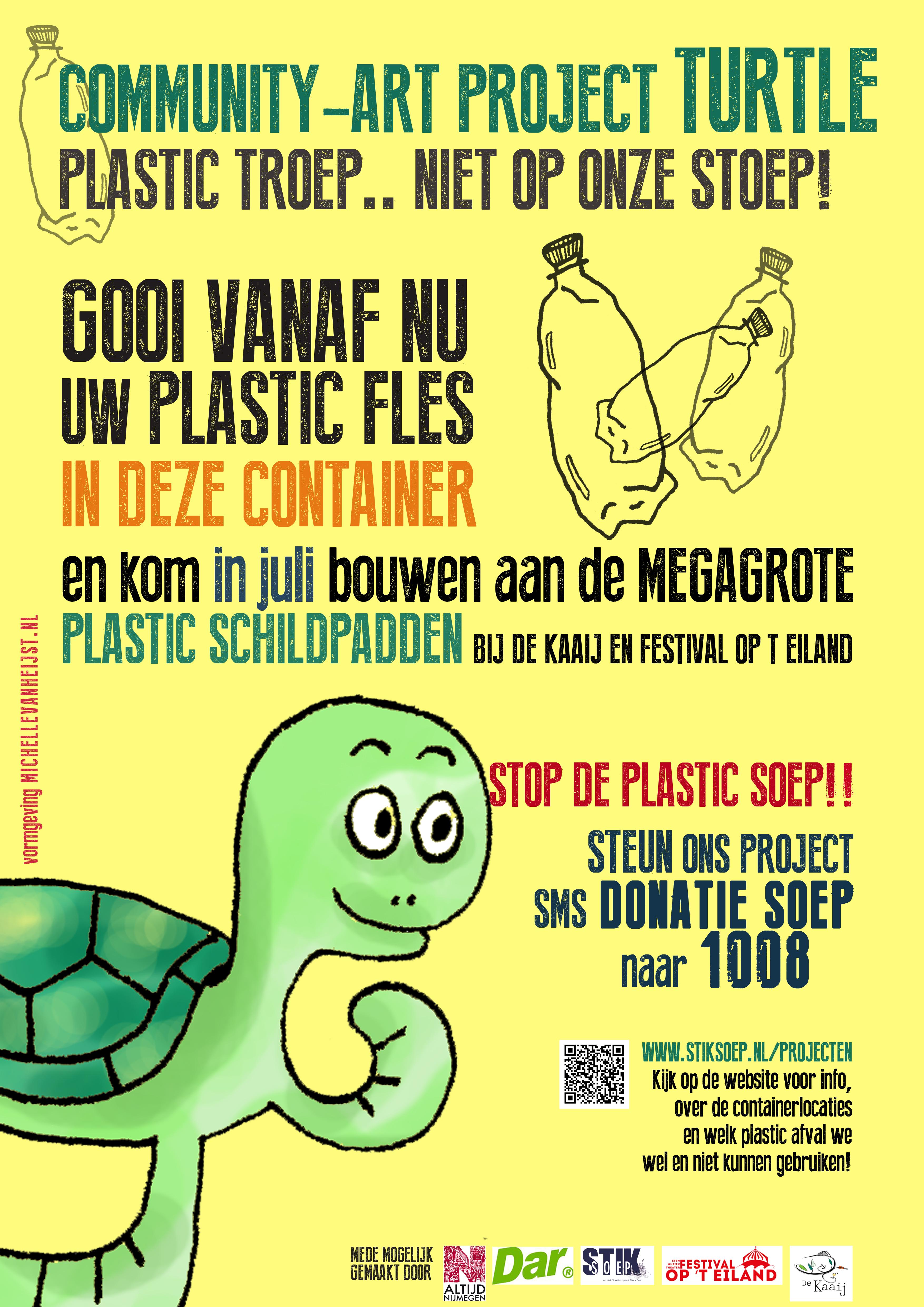 Turtle container plakken